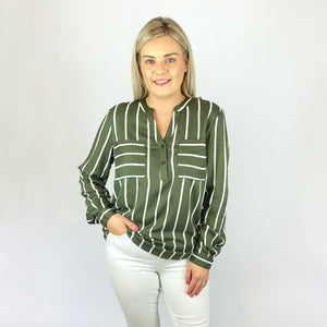 Olive Striped Shirt