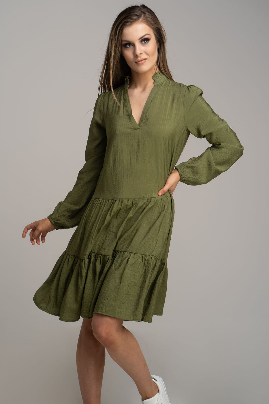 Khaki Tunic Dress