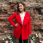 Red Coat/Cardigan With Belt