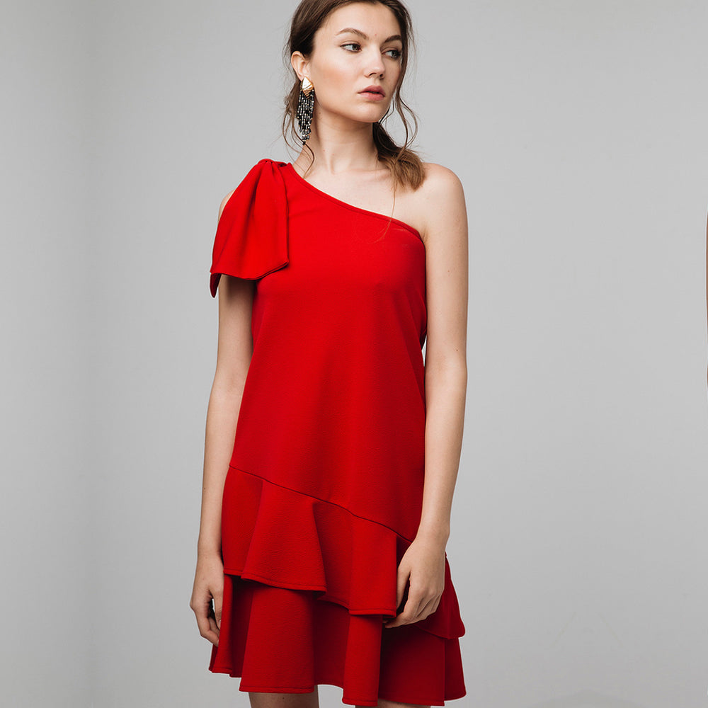 Red One Shoulder Dress | The Dresser Boutique Banbridge Northern Ireland