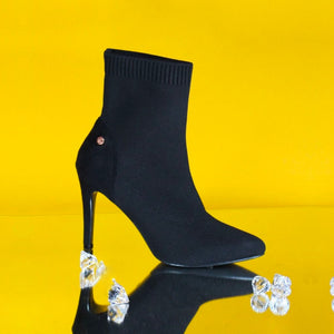 Roxanne Black Sock Boot