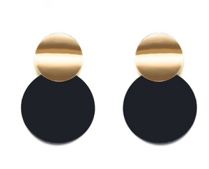 Black Disc Earring