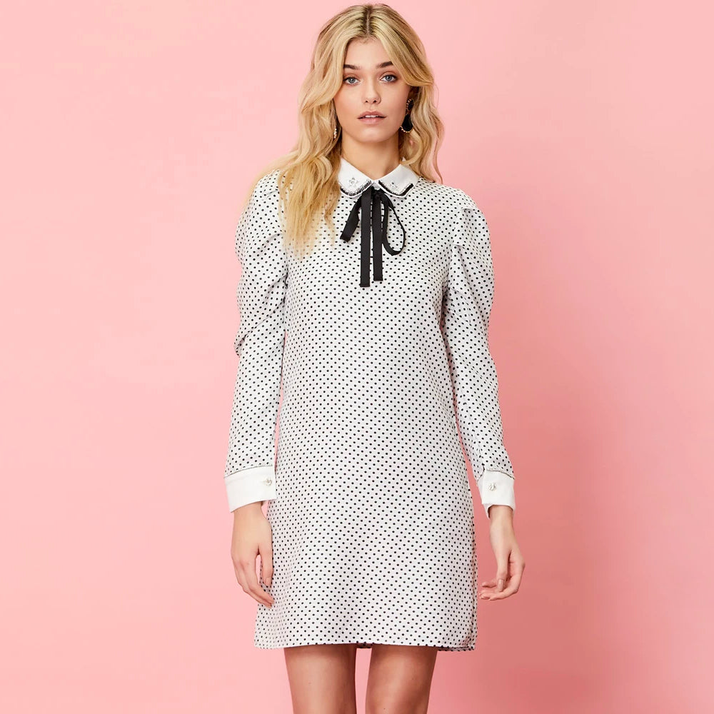 Spots Shift Dress