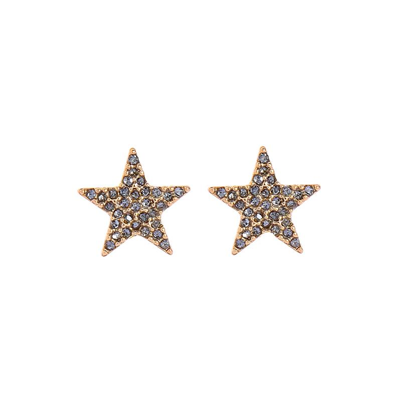Star Earring With Crystals