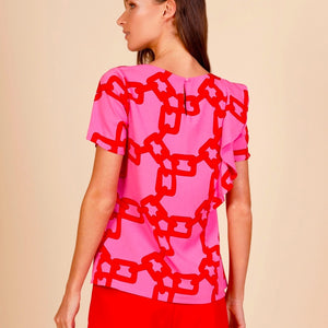 Susan Chain Print Top