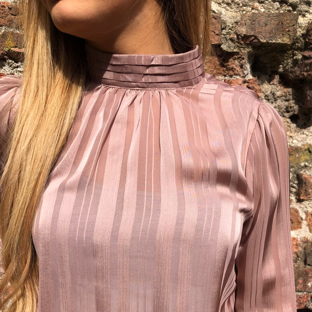 Pink High-Neck Top