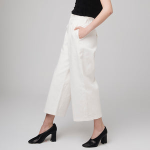 White Cropped Wide-Leg Trouser | The Dresser Boutique Banbridge Northern Ireland