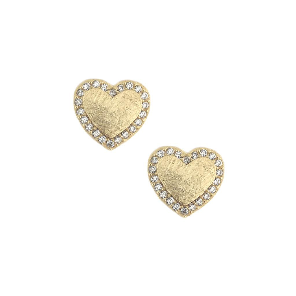 Gold Crystal Heart