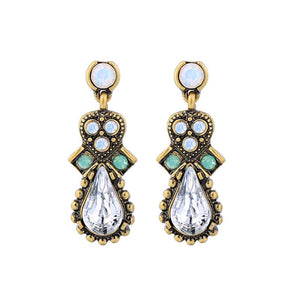 Vintage Drop Gem Earring