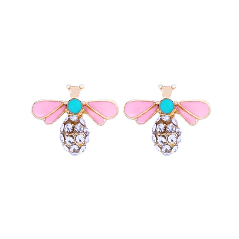 Pink & Mint Crystal Bee