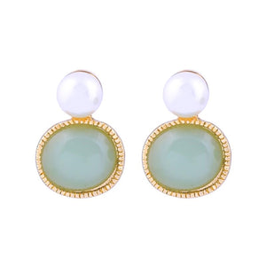 Pearl and Mint Earring