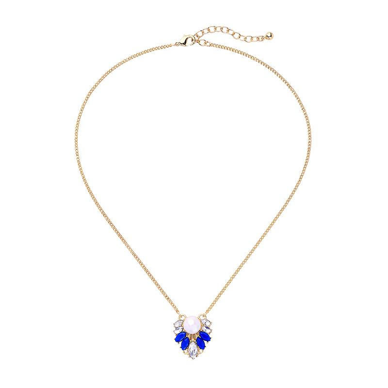 Sapphire Cluster Necklace