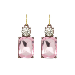 Ice Pink Drop Earring