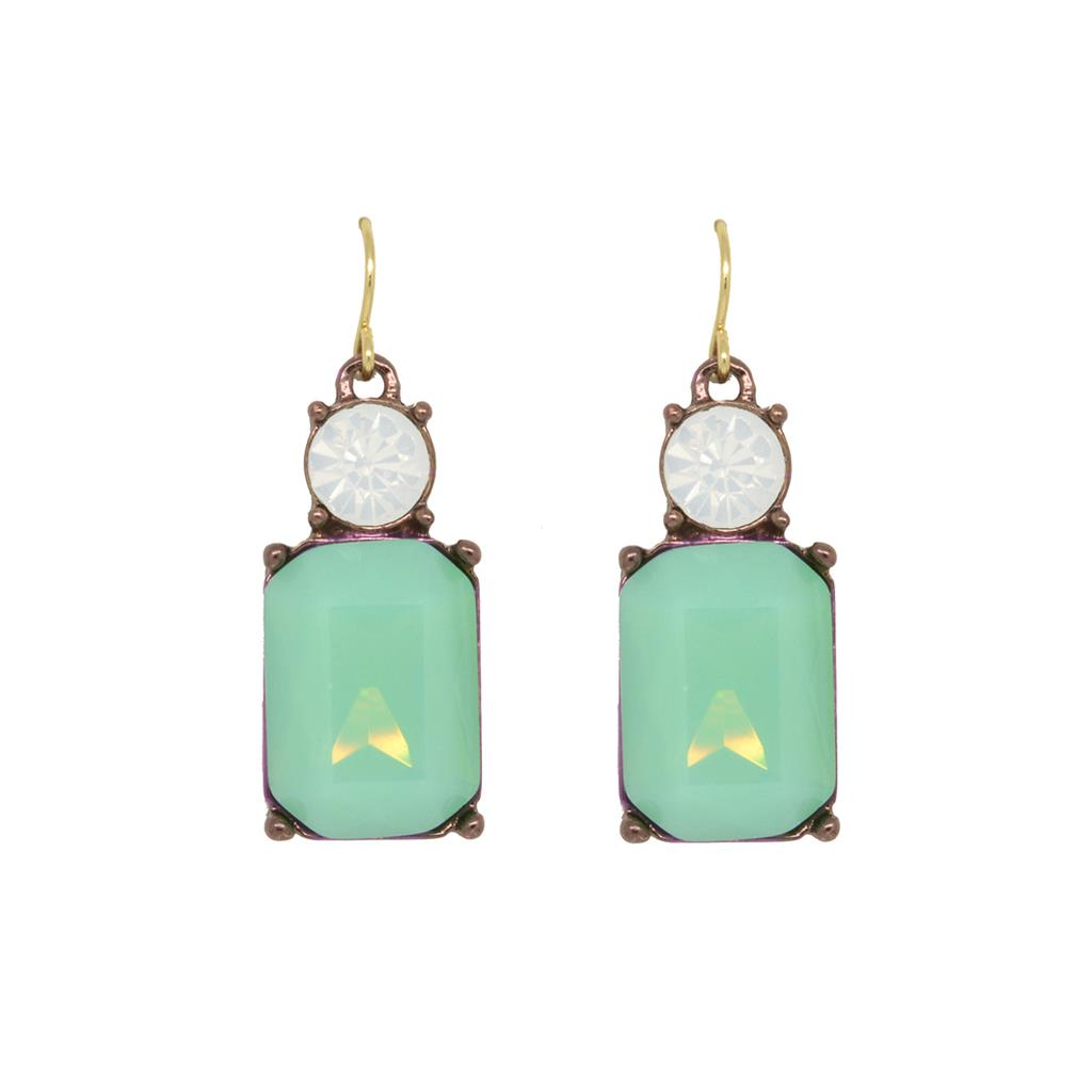 Deep Mint Drop Earring