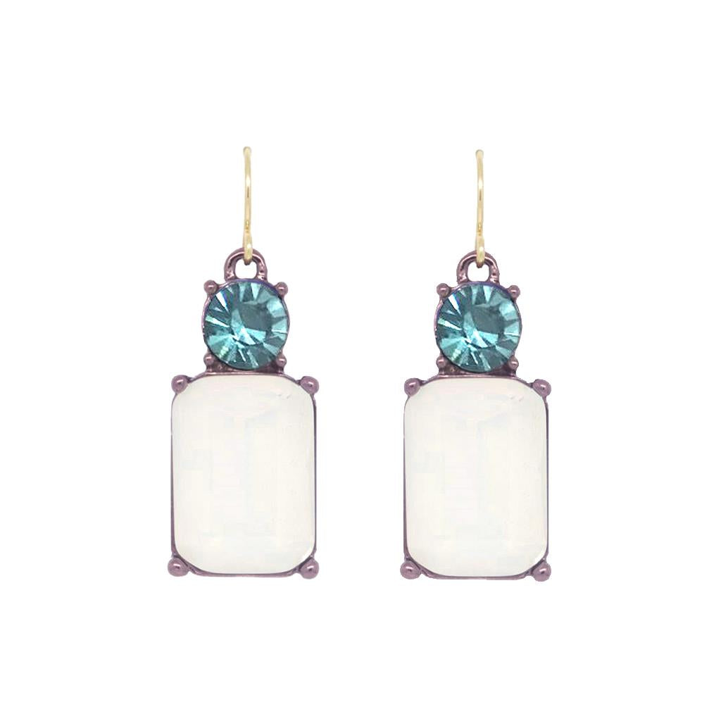 White and Aqua Drop Earring