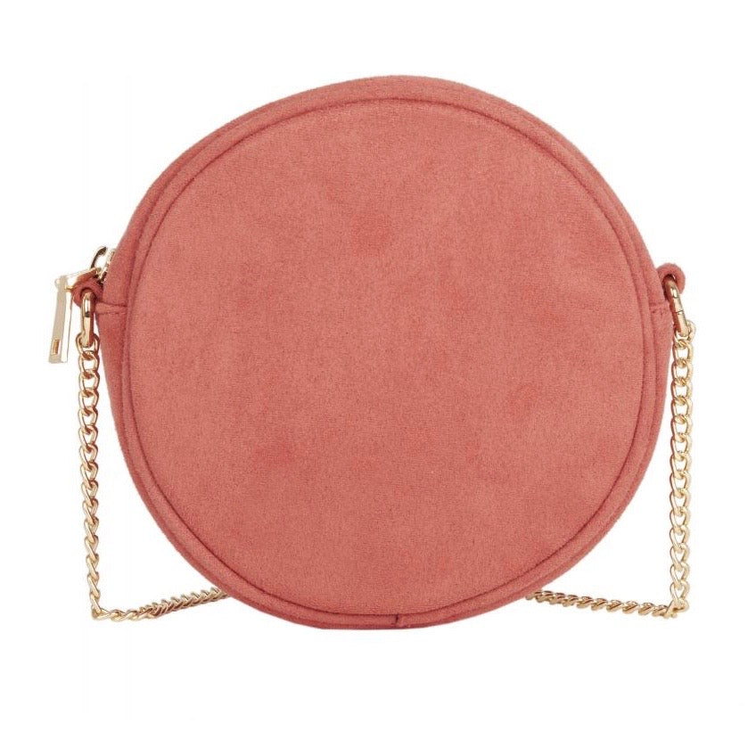 Rose Pink Circle Cross-body Bag