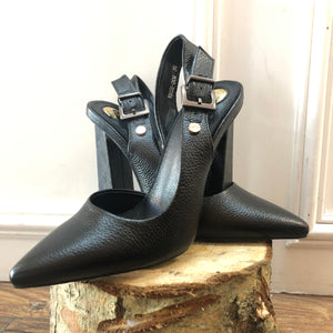 Aurora Metallic Black Shoe