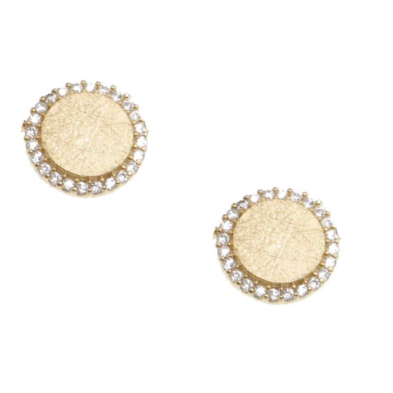 Gold and Crystal Circle Earring
