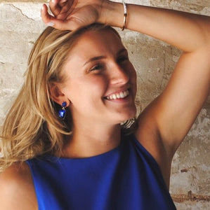 Royal Blue Drop Earrings