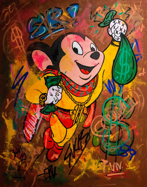 Mighty Mouse Cashing Out (90x70cm)