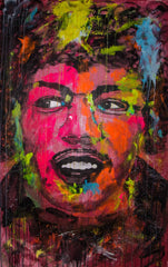 Jimmy Hendrix Pop Art Portrait - 150x90cm
