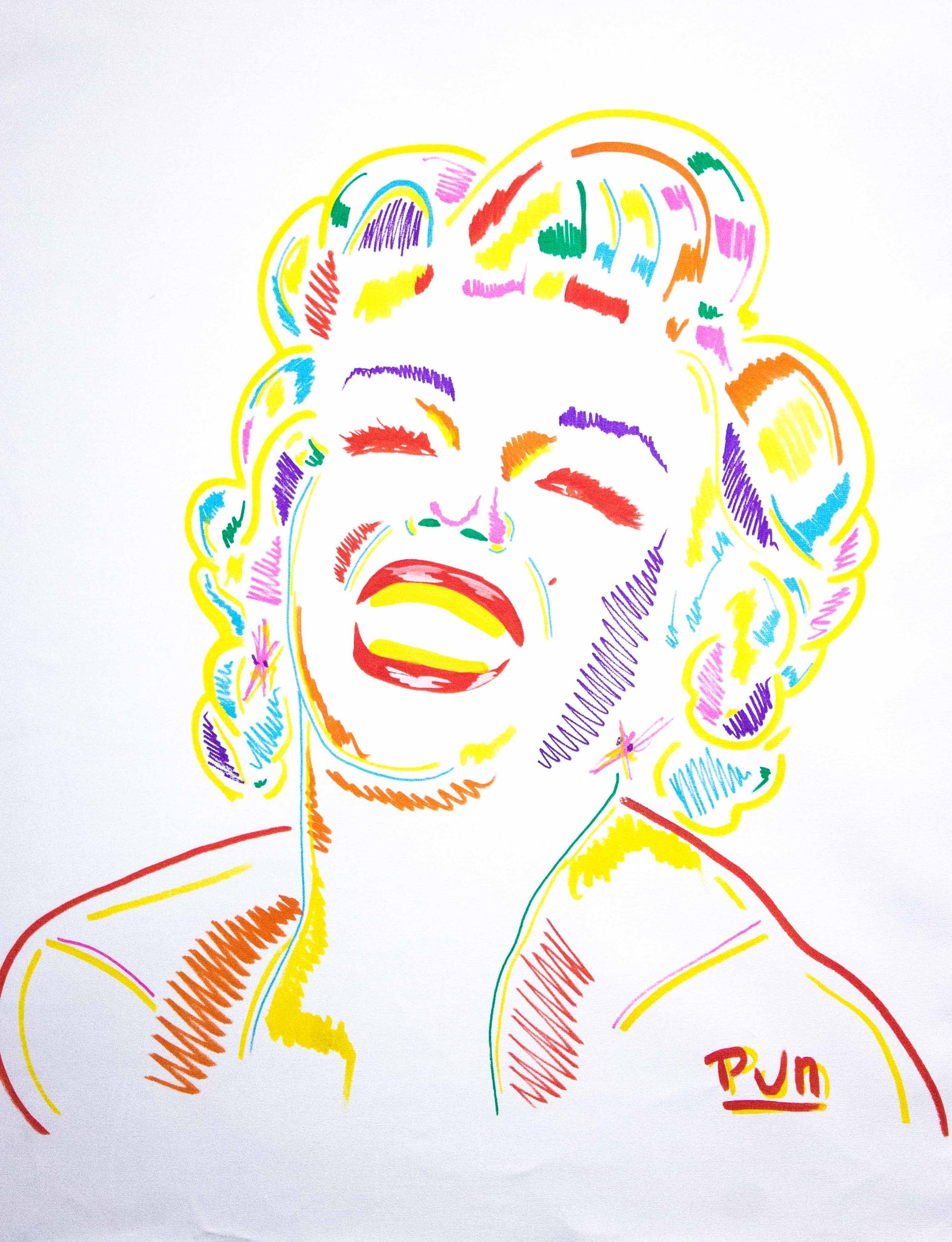 Marilyn Monroe White #078 3D ChromaDepth Series - 90x70cm