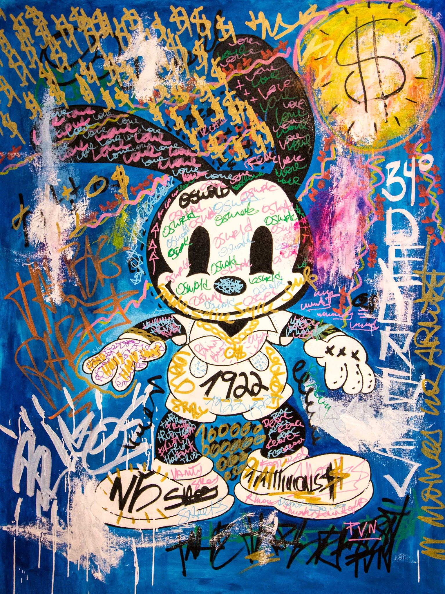 SOLD - Oswald The Lucky Rabbit - 150x110cm