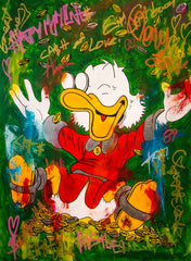 SOLD - Mc Duck - Happiness - 150x110cm by Carlos Pun