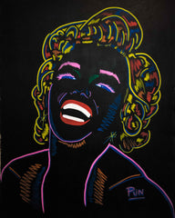 Marylin Monroe 3D ChromaDepth - Big Painting 150x110cm Certificated Signes by Carlos Pun