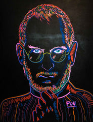 Steve Jobs 3D Chroma Depth Portrait - 150x110cm Certificated by Artist Carlos Pun