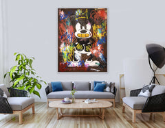 The Angry Mouse - Pop Art - 90x70cm - Ready to Hang - FREE SHIPPING - Certification Included