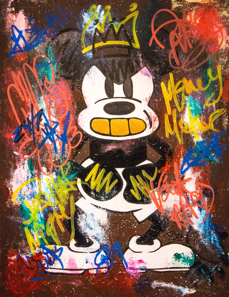 SOLD - The Angry Mouse - Pop Art - 90x70cm - Ready to Hang - FREE SHIPPING - Certification Included