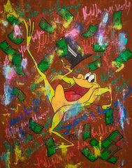 Michigan J. Frog - 90x70cm - Ready to Hang - FREE shipping- Certification Included