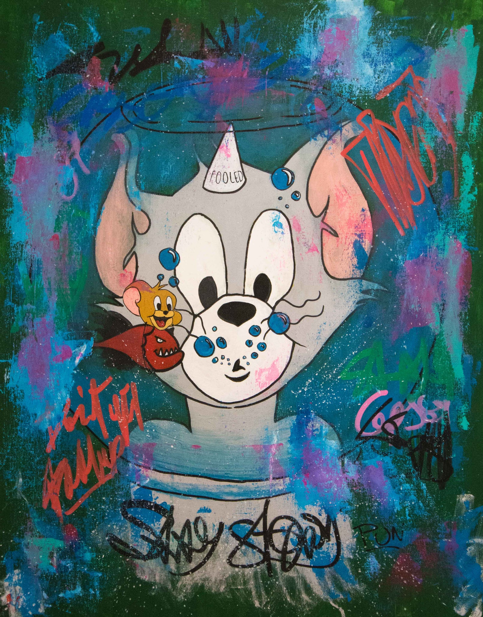 Dont Be Fooled Tom And Jerry - 90x70cm - Ready to Hang - Free shipping- Certification Included