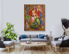 Ariel The Mermaid - 90x70cm - Ready to Hang - FREE shipping- Certification Included