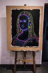 Mona lisa 3D Chroma Portrait - 90x70cm