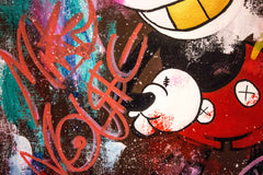Old Mickey Mouse Salute - 90x70cm - FREE SHIPPING - Ready to Hang - Invest in art