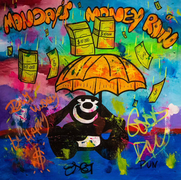 Mondays Money Rain Oswald (80x80cm)