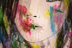 Untitled Nº114 Girl Faces Series - 90x70cm - Ready to Hang - Certificated