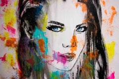 Untitled Nº111 Girl Faces Series - 90x70cm - Ready to Hang