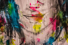 Untitled Nº117 Girl Faces Series - 90x70cm - Ready to Hang - Certificated