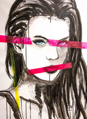 Untitled Girl Portrait Nº104 Faces Series - 90x70cm - Ready to Hang