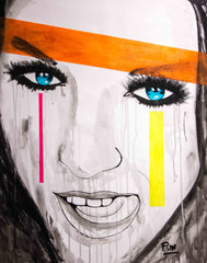 Untitled Girl Portrait Nº109 Faces Series - 90x70cm - Ready to Hang