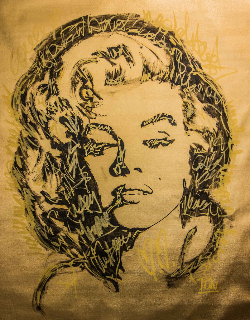 Gold Series Marilyn Monroe Portrait