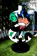 Dollar Street Art Sculpture ft. Scrooge, Mr. Monopoly