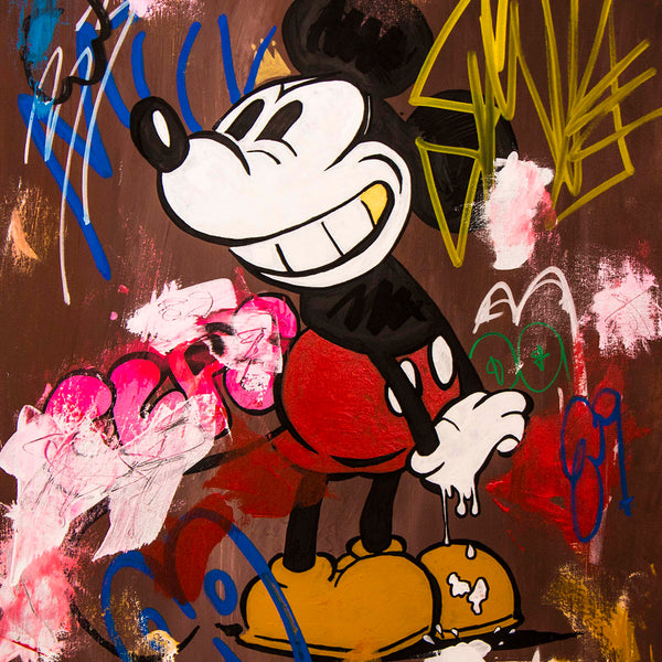 SOLD - Prints Available - Old Mouse Pop Art - 90x70cm
