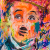 Charles Chaplin Pop Art Portrait - 150x90cm