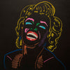 SOLD - Prints Available -  Black Marilyn Monroe - 90x90cm