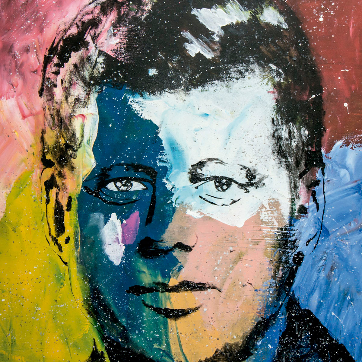 SOLD - Prints Available - John F. Kennedy Pop Art Painting - 90x70cm
