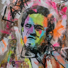 Johnny Cash Pop Art Painting - 90x70cm